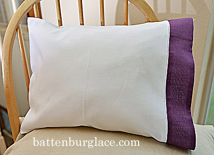 Baby Pillowcase - Apple Butter color trim - set of 2