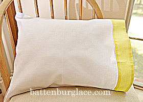 Baby Pillowcases. White with Aurora trims. Set of 2