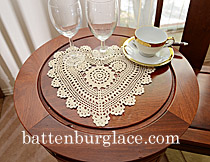 Doilies Heart Shape Crochet Lace