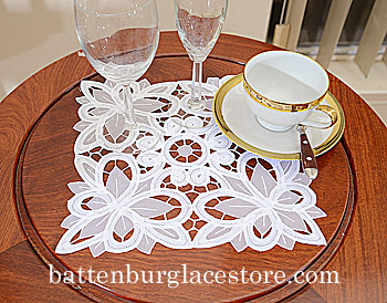 Doilies Organza Square 10 in.Christina Butteflies.(6 pcs.)