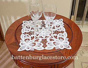 Doilies Organza Square 12 in.Christina Butterflies.(2 pcs.)