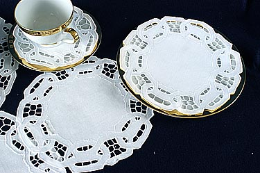 "Dynasty doilies. Round. 10"". Ecru color (6 pcs. set)"