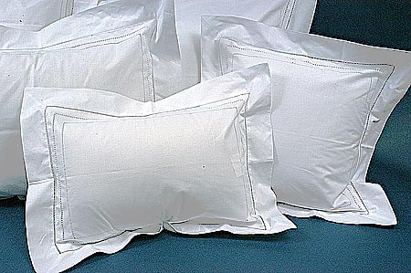 Baby pillow. Hemstitch English. Breakfast size 14x20