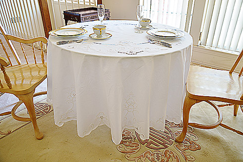 "Imperial 88"" Round Tablecloth"