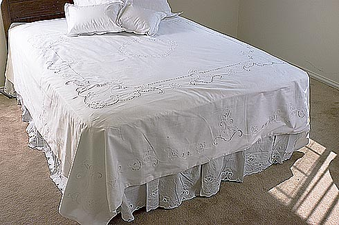 Cotton, Embroidered Duvet Cover