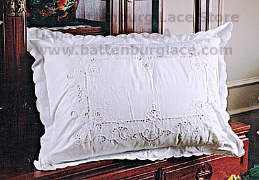 Pillow Sham.King Size Shams. Imperial Embroidery (2 shams)