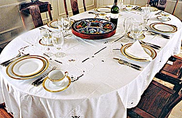 "Imperial Style tablecloth 68""x144"" OVAL White color"