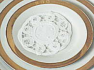 "Battenburg Lace. Round.4"" White (12 pieces)"