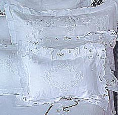 Baby pillow sham. Imperial embroidery. 12x16 pillow with filler