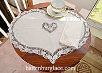 Placemat - Heart shape cluny