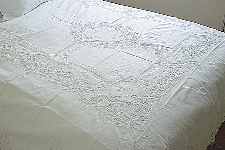 Battenburg Lace Bed Coverlet Full Size -Princess Anne Battenburg