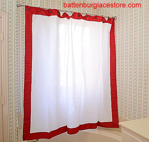 Shower Curtains White Color Trim Battenburg Lace Store The Home Fashion Center