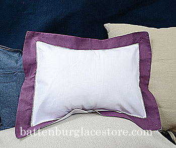 Standard Pillow Sham Cover 20x26. White with Apple Butter color