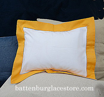 Standard Size Sham Cover.20x26 inches. White with Apricot color