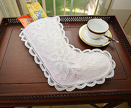 Battenburg Lace Stocking