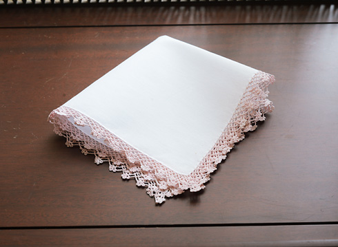 Cotton handkerchief Lace Trimmed
