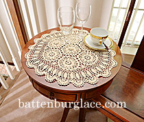 Crochet Round Doily Wheat color