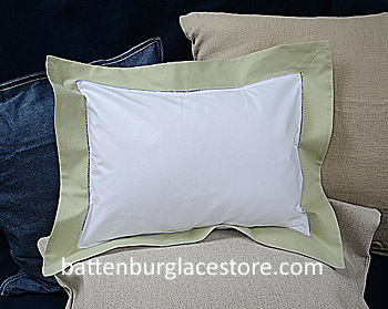 "Baby Pillow Sham.White with ""NILE"" color border.12""x16""pillow."