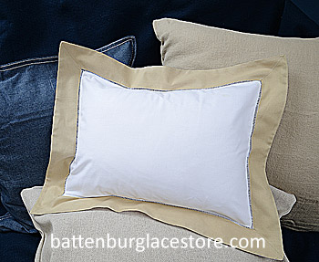 "Baby pillow sham.White with Safari -Taupe color.12x16""pillow"