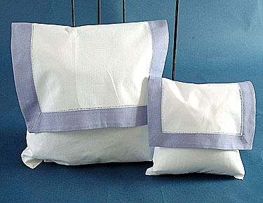 Envelope Pillow.White with Lavender. Large size 12""