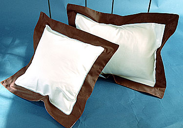 Fashion Designer Baby Pillow White Brown. 12x16 pillow