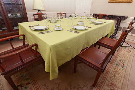 Festive Tablecloth. Celery Green color. Size:70x100""